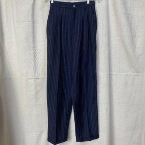 Vintage 80s Cristina Pinstriped High Waist Trouser